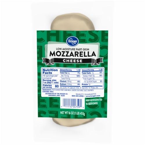 Kroger® Low-Moisture Part-Skim Mozzarella Cheese Perspective: front