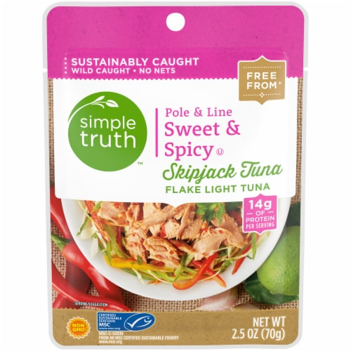 Simple Truth™ Pole & Line Sweet & Spicy Skipjack Tuna Pouch Perspective: front