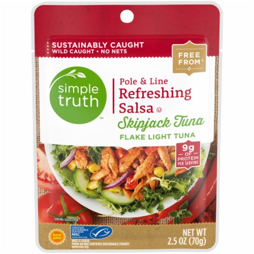 Simple Truth™ Pole & Line Refreshing Salsa Skipjack Tuna Pouch Perspective: front