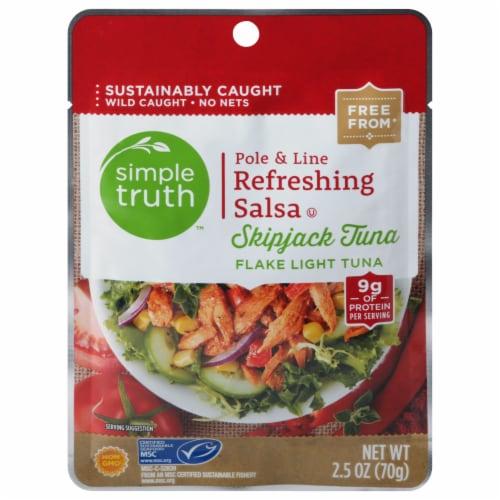 Simple Truth™ Pole & Line Refreshing Salsa Skipjack Tuna Flake Light Tuna Perspective: front