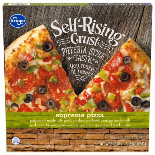 Kroger® Self-Rising Crust Pizzeria Style Supreme Pizza Perspective: front
