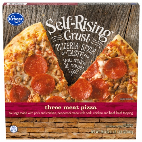 Kroger Three Meat Pizza Self Rising Crust Perspective: front