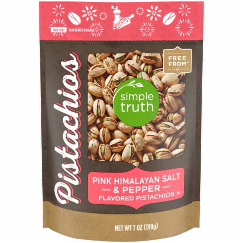 Simple Truth® Pink Himalayan Salt & Pepper Pistachios Perspective: front