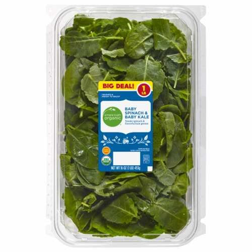 Simple Truth Organic® Baby Spinach and Kale Perspective: front