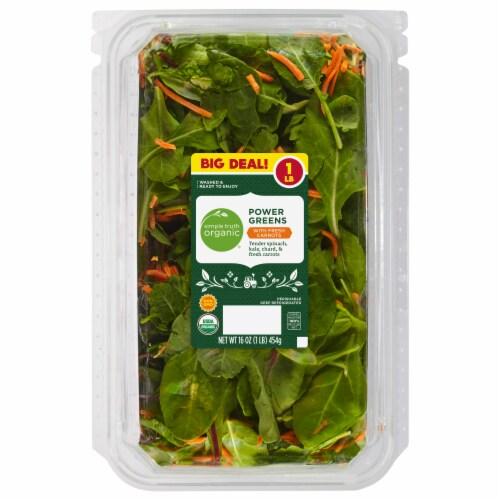 Simple Truth Organic® Power Greens with Fresh Carrots Perspective: front