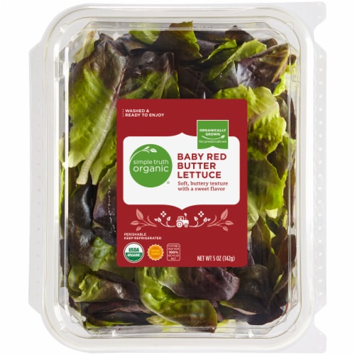 Simple Truth Organic® Baby Red Butter Lettuce Perspective: front