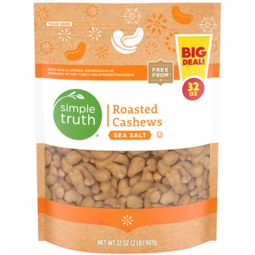 Simple Truth Sea Salt Roasted Cashews Perspective: front
