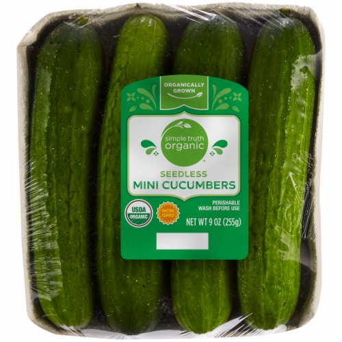 Simple Truth Organic™ Seedless Mini Cucumbers Perspective: front