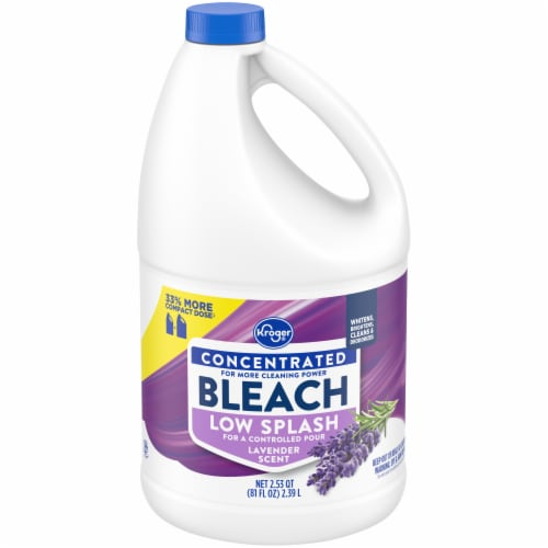 Kroger® Low Splash Lavender Scent Concentrated Bleach Perspective: front