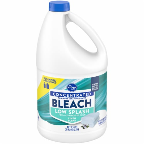 Kroger® Low Splash Linen Scent Concentrated Bleach Perspective: front