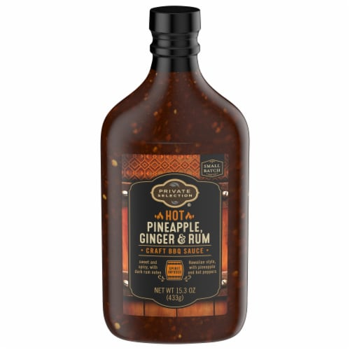 Private Selection® Hot Pineapple Ginger & Rum BBQ Sauce Perspective: front