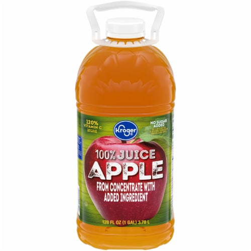 Kroger® 100% Apple Juice From Concentrate Bottle Perspective: front