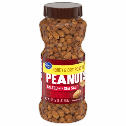 Kroger® Salted Honey & Dry Roasted Peanuts Perspective: front