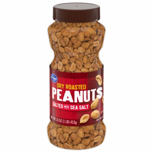 Kroger Salted Dry Roasted Peanuts Perspective: front