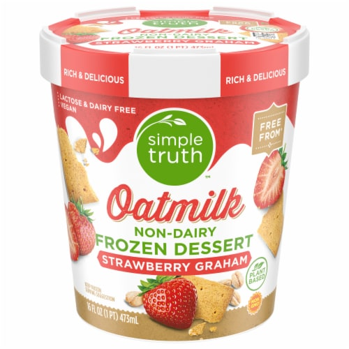 Simple Truth™ Strawberry Graham Oatmilk Non-Dairy Frozen Dessert Perspective: front