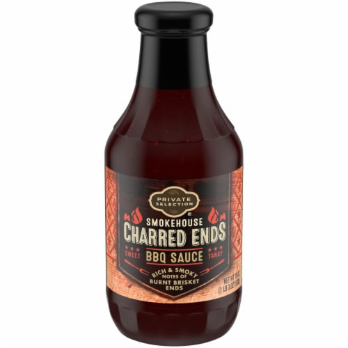 Private Selection® Smokehouse Charred Ends BBQ Sauce Perspective: front