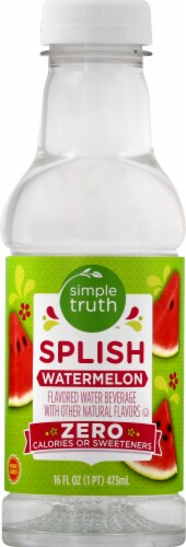 Simple Truth™ Splish Watermelon Flavored Water Beverage Perspective: front