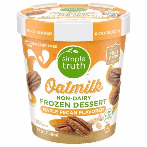 Simple Truth™ Maple Pecan Oatmilk Non-Dairy Frozen Dessert Perspective: front