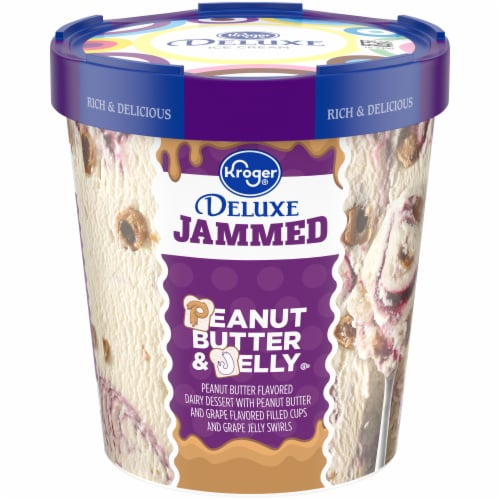 Kroger® Deluxe Peanut Butter & Jelly Ice Cream Perspective: front
