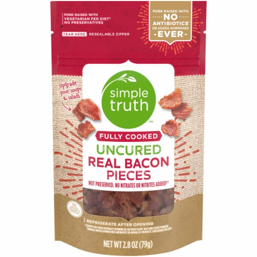 Simple Truth™ Fully Cooked Uncured Bacon Pieces Perspective: front