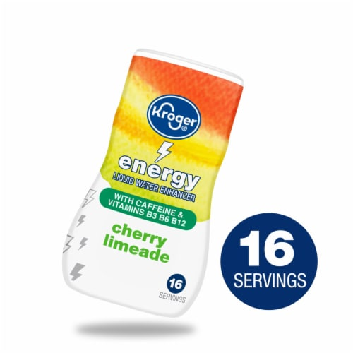 Kroger® Energy Cherry Limeade Liquid Water Enhancer Perspective: front