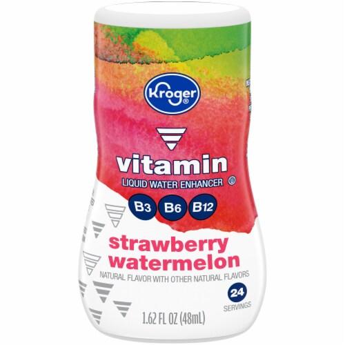 Kroger® Strawberry Watermelon Vitamin Liquid Water Enhancer Perspective: front