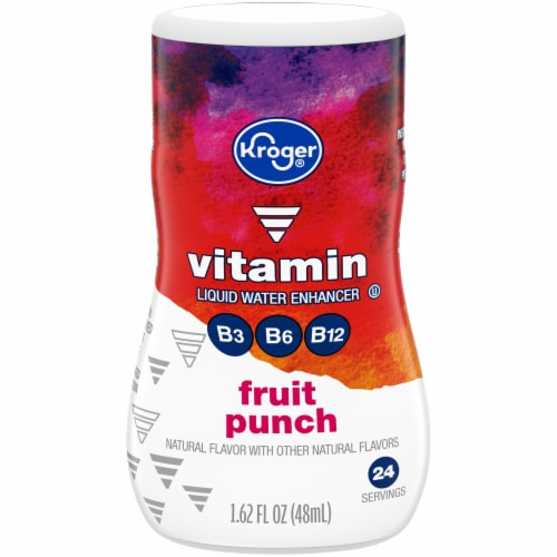 Kroger® Fruit Punch Vitamin Liquid Water Enhancer Perspective: front