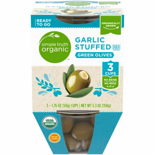 Simple Truth Organic™ Garlic Stuffed Green Olives Perspective: front