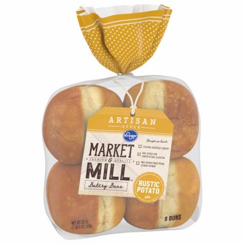 Kroger® Market & Mill Artisan Style Rustic Potato Hamburger Buns Perspective: front
