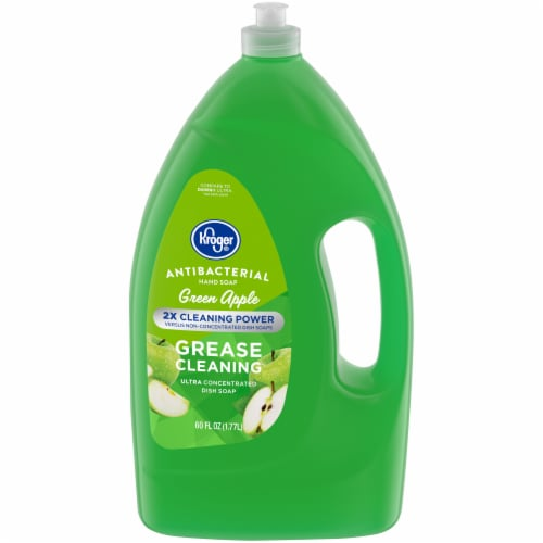 Kroger® Green Apple Grease Cleaning Antibacterial Dish and Hand Soap Perspective: front
