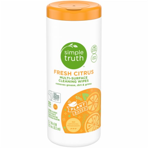 Simple Truth™ Fresh Citrus Multi-Surface Cleaning Wipes Perspective: front