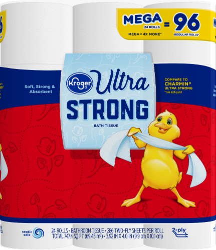 Kroger® Ultra-Strong Bath Tissue Perspective: front