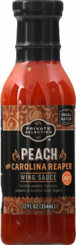 Private Selection® Peach Carolina Reaper Hot Wing Sauce Perspective: front