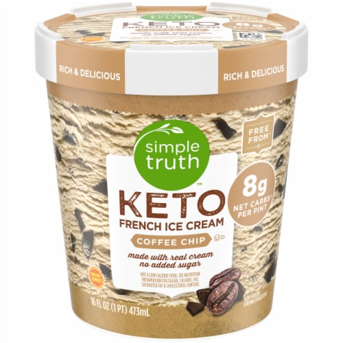 Simple Truth™ Keto Coffee Chip French Ice Cream Perspective: front