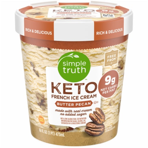 Simple Truth™ Butter Pecan Keto French Ice Cream Perspective: front