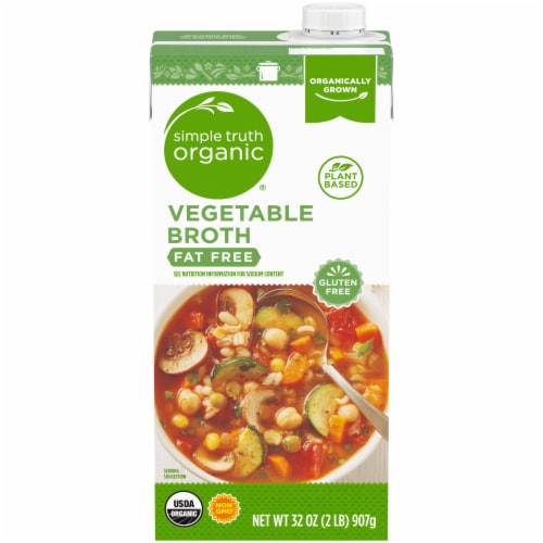 Simple Truth Organic® Gluten Free Fat Free Vegetable Broth Perspective: front