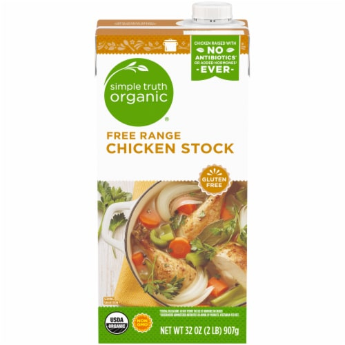 Simple Truth Organic® Free Range Chicken Stock Perspective: front