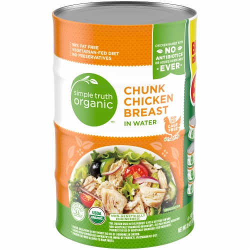 Simple Truth Organic™ Chunk Chicken Breast in Water Perspective: front