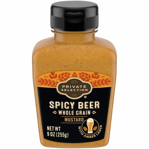 Private Selection® Spicy Beer Whole Grain Mustard Perspective: front