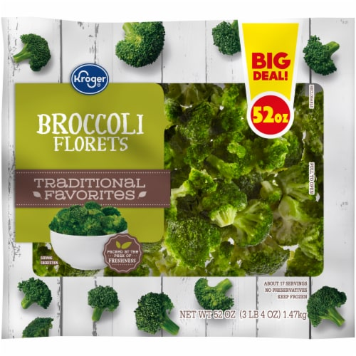 Kroger® Traditional Favorites Broccoli Florets Perspective: front