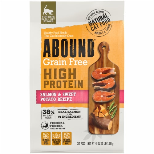 ABOUND® Grain Free Salmon & Sweet Potato Recipe Cat Food Perspective: front