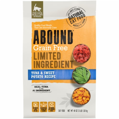 Abound® Grain Free Limited Ingredient Tuna & Sweet Potato Recipe Natural Dry Cat Food Perspective: front