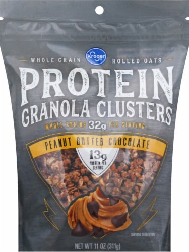 Kroger® Peanut Butter Chocolate Protein Granola Clusters Perspective: front