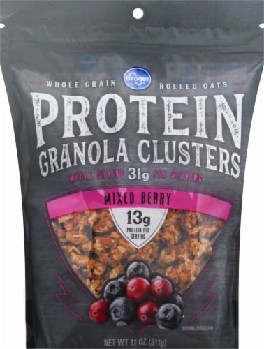 Kroger® Mixed Berry Protein Granola Clusters Perspective: front