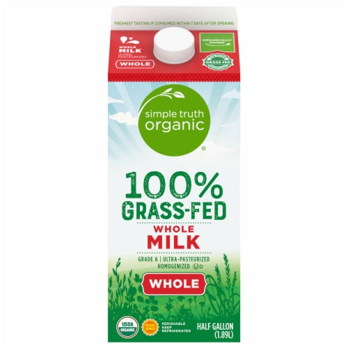 Simple Truth Organic® Grass-Fed Whole Milk Perspective: front