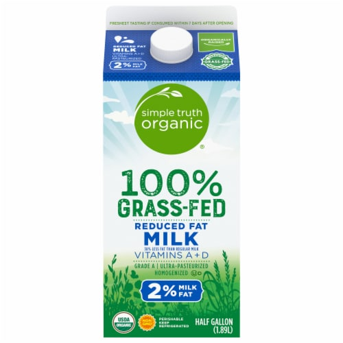 Simple Truth Organic® 100% Grass-Fed 2% Milk Perspective: front