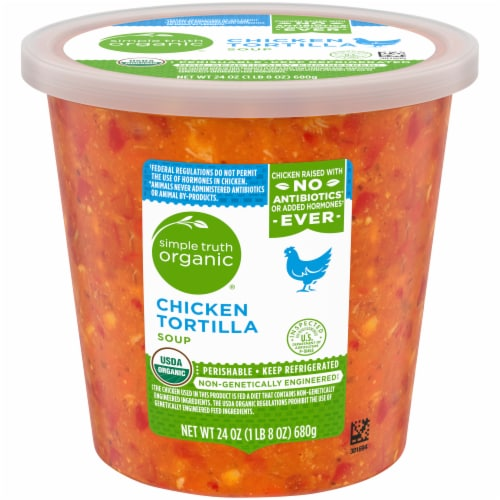 Simple Truth Organic™ Chicken Tortilla Soup Perspective: front