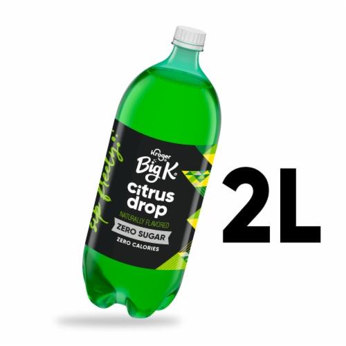 Big K Citrus Drop Zero Calorie Soda Perspective: front