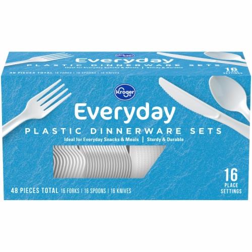 Kroger® Plastic Dinnerware Multi-Pack Set Perspective: front