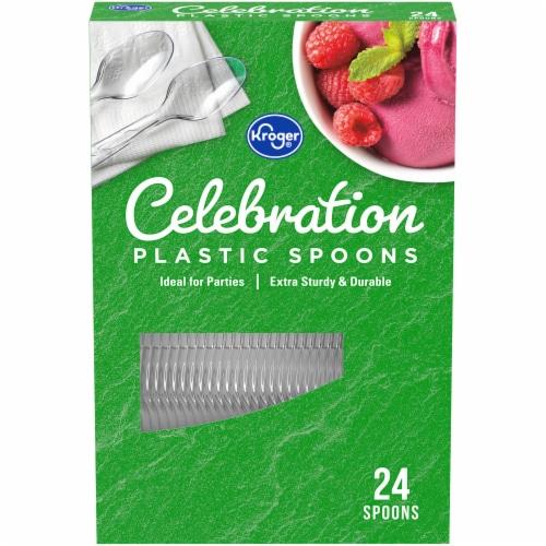 Kroger® Celebration Clear Plastic Spoons Perspective: front